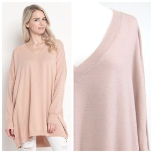 New soft and cozy dusty pink oversized sweater